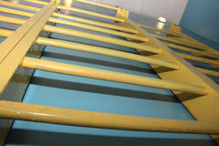 Gammal gymnastisk stege Fotografering för Bildbyråer