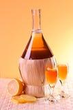gammal härlig flaska för alkohol royaltyfri fotografi