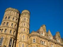 Gammal högskola för Aberystwyth universitetar, Wales Royaltyfria Foton