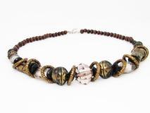 Gammal halsband på en vit bakgrund Royaltyfri Foto