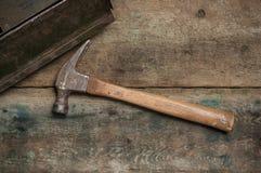 gammal hammare Arkivfoto