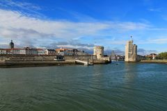 gammal hamn av La Rochelle i Frankrike Arkivbild