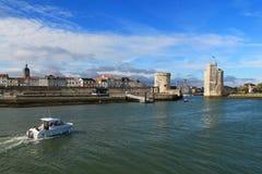 gammal hamn av La Rochelle i Frankrike Royaltyfri Fotografi