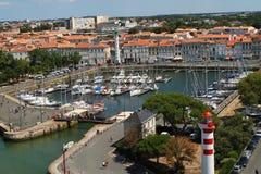 gammal hamn av La Rochelle i Frankrike Royaltyfria Bilder