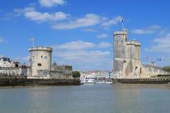 gammal hamn av La Rochelle i Frankrike Arkivfoton