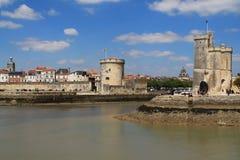 gammal hamn av La Rochelle i Frankrike Arkivfoto