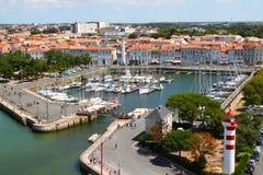 gammal hamn av La Rochelle i Frankrike Royaltyfri Bild