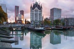 Gammal hamn av Rotterdam Royaltyfria Foton