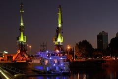 Gammal hamn, Buenos Aires, Argentina Arkivfoto