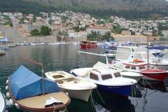 Gammal hamn Dubrovnik, Kroatien Royaltyfria Foton