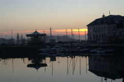 Gammal hamn, Honfleur Normandie Royaltyfria Foton