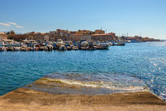 Gammal hamn i Chania, Grekland royaltyfri fotografi