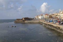 Gammal hamn - tunnland - Israel Arkivbilder