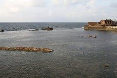 Gammal hamn - tunnland - Israel Royaltyfri Fotografi