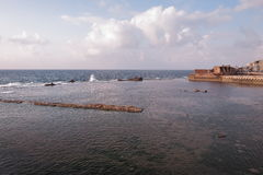 Gammal hamn - tunnland - Israel Arkivfoto