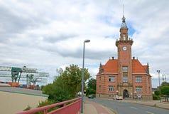 Gammal hamnförlages kontor - Dortmund Tyskland arkivbilder