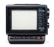 Gammal handheld isolerad radio- och televisionuppsättning Arkivbild