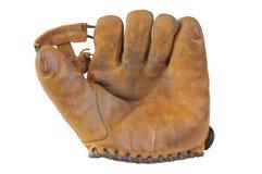Gammal handske för tappningbaseballstoppare Arkivfoto