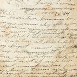 Gammal handskrift av 1915 Royaltyfria Foton