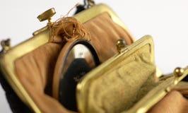 gammal handväska Arkivfoton