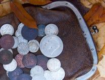 gammal handväska Arkivfoto