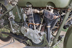 Gammal Harley Davidson motor Royaltyfria Bilder