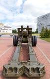 Gammal haubits på den Brest fästningen _ Arkivfoton