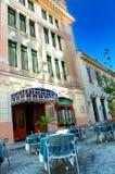 Gammal Havana cafe arkivfoto
