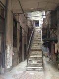 Gammal havannacigarr - Kuba - farstu och trappa Arkivfoto