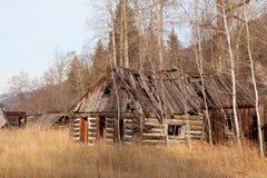 Gammal hemman för övreOkanogan Skotska högländerna. Royaltyfri Foto