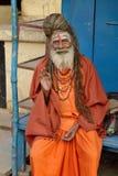 Gammal hinduisk sadhu Arkivbild