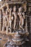 Gammal hinduisk SAS-Bahu tempel i Rajasthan, nära Udaipur, Indien Arkivfoton