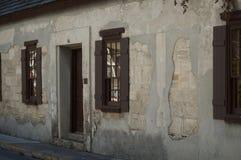 Gammal historisk byggnad i i stadens centrum StAugustine, Florida Arkivbilder