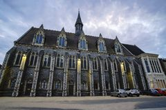 Gammal historisk kyrka i den Lancing högskolan royaltyfria foton