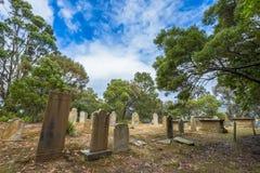 Gammal historisk kyrkogård Arkivbilder