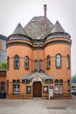 Gammal historisk polisbyggnad i Hamburg, Tyskland Royaltyfri Fotografi