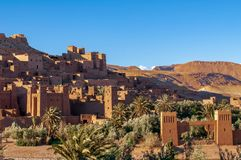 Gammal by Hjälpmedel-Ben-Haddou i Marocko arkivfoto