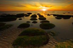 Gammal Hunstanton solnedgång Fotografering för Bildbyråer