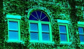 Gammal i stadens centrum byggnad i abstrakta färger Fotografering för Bildbyråer