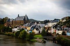 Gammal by i Tyskland Arkivbild
