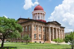 Gammal Illinois huvudstadbyggnad royaltyfri bild