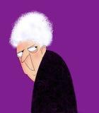 gammal ilsken lady Royaltyfri Bild
