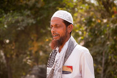 gammal indisk islamisk man Arkivbilder