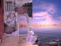 Gammal indisk vägg Fotografering för Bildbyråer