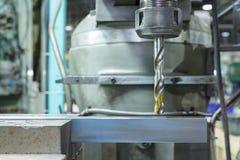 Gammal industriell drillborr Fotografering för Bildbyråer