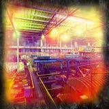 Gammal industriell lokal Arkivfoto
