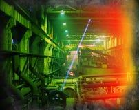 Gammal industriell lokal Fotografering för Bildbyråer