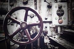 gammal industriell maskin Royaltyfria Foton