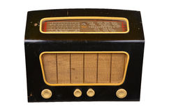 Gammal inhemsk trådlös uppsättning för radiomottagare Arkivfoton