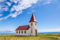 Gammal isländskakyrka Royaltyfri Fotografi